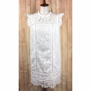 Vineyard Vines Lace Shift Dress in White